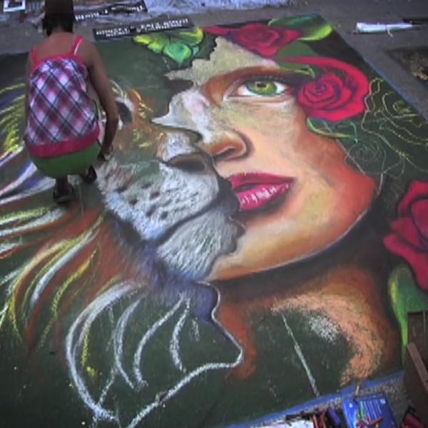 carie chalk lady lion 600 x 600